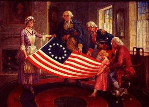 Betsy-Ross-and-flag-500w