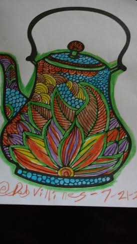 color tea pot
